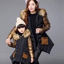 Зимняя куртка для маленьких девочек от 2 до 10 лет Детское пуховое пальто Модная плотная теплая куртка для девочек с меховым капюшоном и воро...