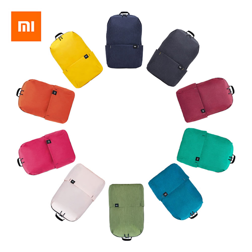 Original Xiaomi Backpack Mi Colorful Small Backpack Thin men women Simple Student Bag 10L Capacity Daily Casual Sports Bag