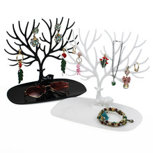 2019 Deer Earrings Necklace Ring Pendant Bracelet Jewelry Display Stand Tray Tree Storage Racks Organizer Jewelry Shelf Holder(China)