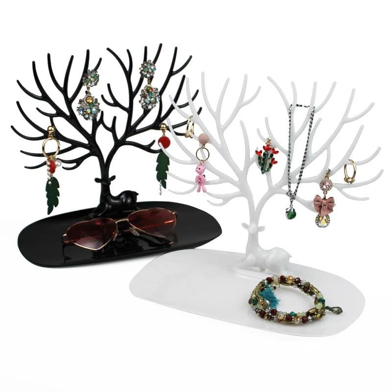2 lady Metal jewelry Display Necklace Earring Ring Pendent Stand Rack jewelry storage jewelry Organizer storage open Shelf