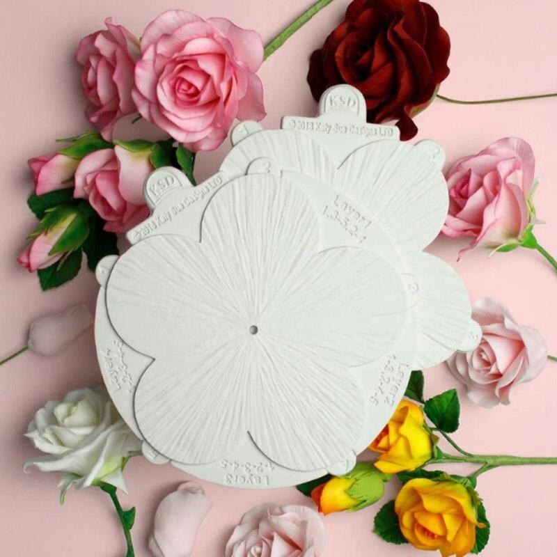 Цветочная Профессиональная форма для лепестков, силиконовая форма для помадки, инструмент для украшения торта, сахарный шоколадный жвачка,...