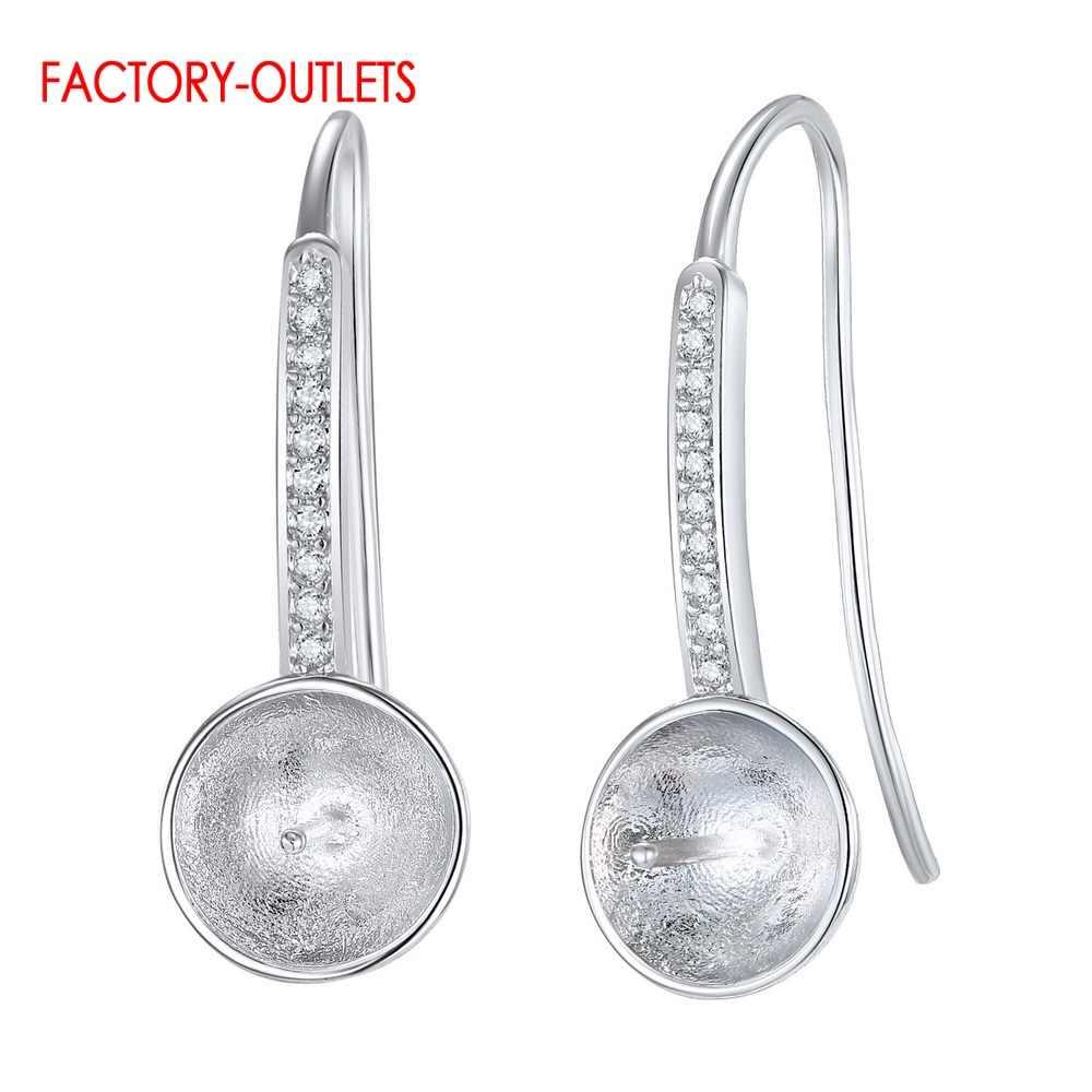 Wysokiej jakości oryginalna 925 Sterling srebrny kolczyk ustalenia DIY biżuteria akcesoria hurt detal Drop Shipping