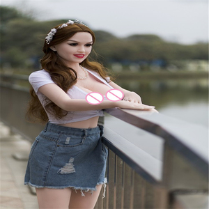 Image 1 - Sex doll 160cm #41Top Quality Beautiful sexy woman sex robot full TPE with metal skeleton love doll For mens sex toys for man