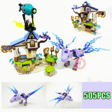 New Elves Series Girls House Fairy Dragon Fit Figures Friends Building Block Bricks Toys for Children Gift Kid