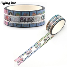 Flyingbee 15mmX5m One Piece Anime Paper Washi Tape Cool Adhesive DIY Scrapbooking Sticker Label Masking X0398