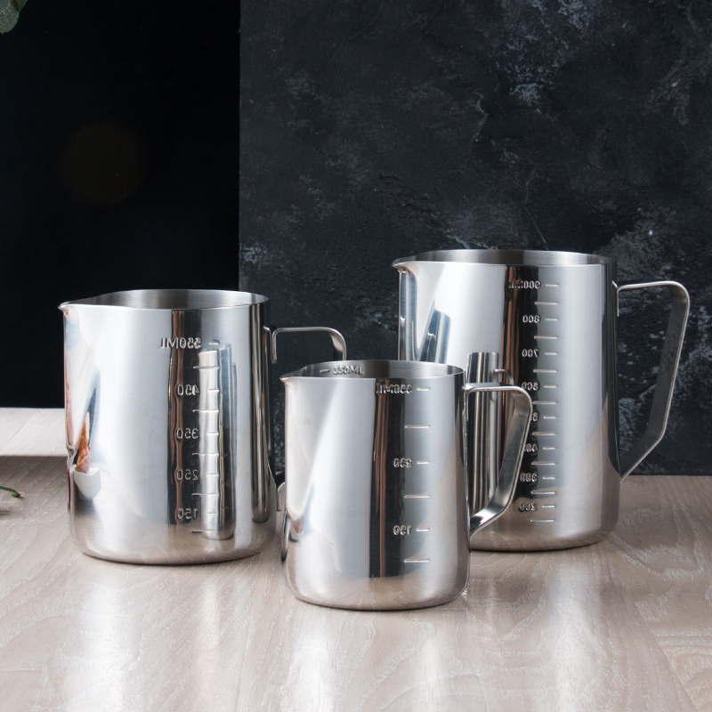 Stainless Steel Measuring Cup With Scale Thickened  Kettle  Kitchen Household Millimeter Standard  Milk Tea Baking Jug YHJ121806