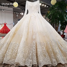 LS62347 O-neck new style lace up ladylike bridal dress corset back princess wedding dress with long train from china online shop(China)