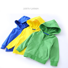 Kids Clothes Boys Jackets Children Hooded Zipper candy color sport Baby