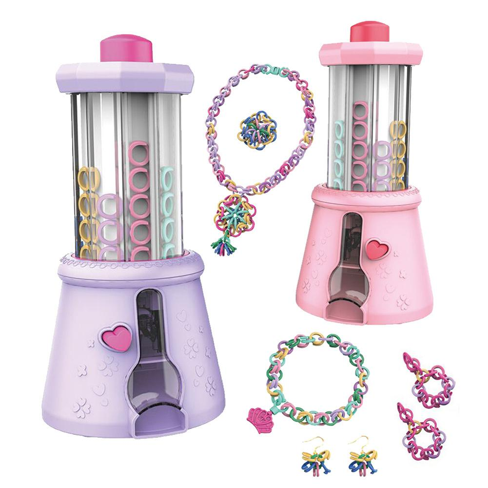 Children's Automatic Knitting Machine Toy DIY Knitted Bracelet Toy Variety Beaded Woven Chain Ring Making Machine Dress Up Toy