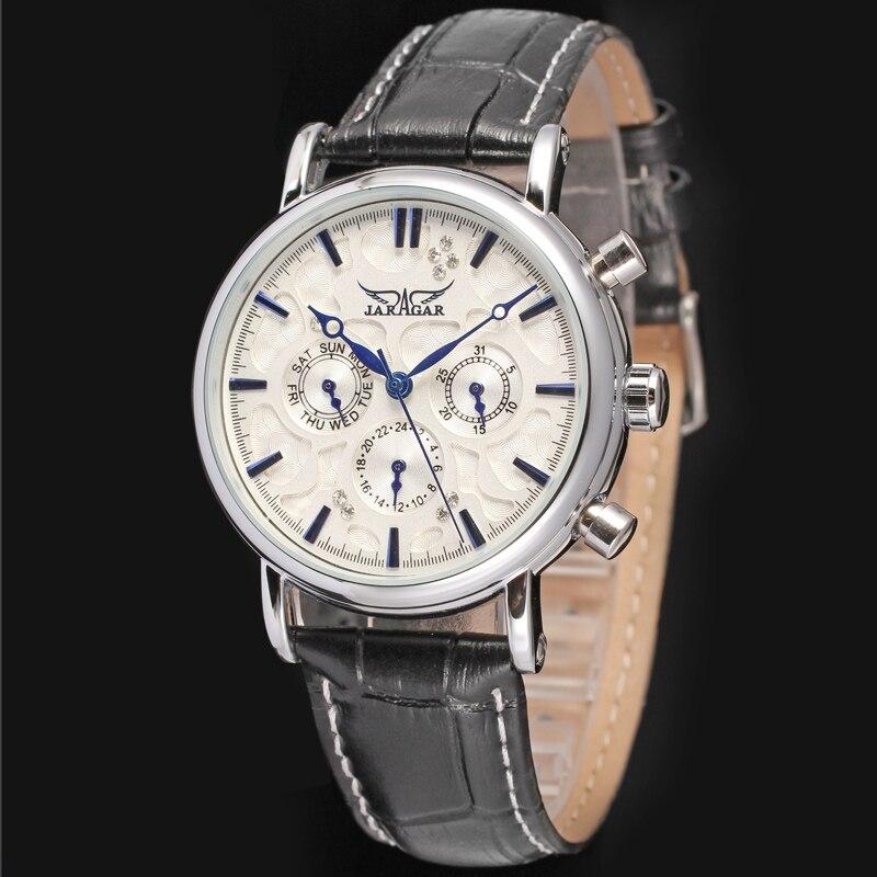Winner Mens Wrist Watch Steel Automatic Mechanical Wristwatch Brand Luxury Watches Male Luminous Calendar Waterproof Stainless