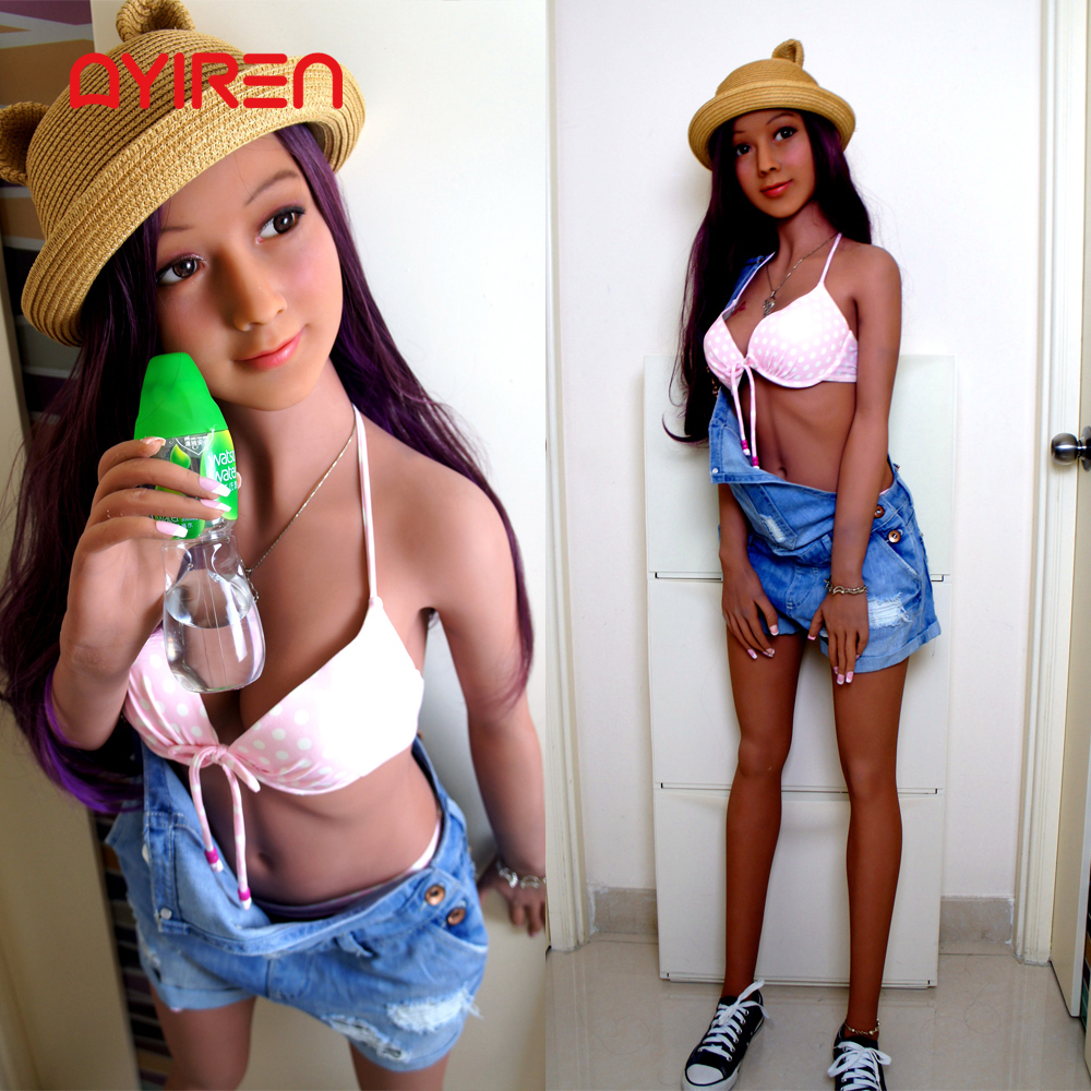 AYIREN <font><b>148cm</b></font> Real Silicone Japanese <font><b>Sex</b></font> <font><b>Dolls</b></font> Skeleton Adult Love <font><b>Doll</b></font> Oral Vagina Lifelike Full Pussy Real sexy Breast for Man image