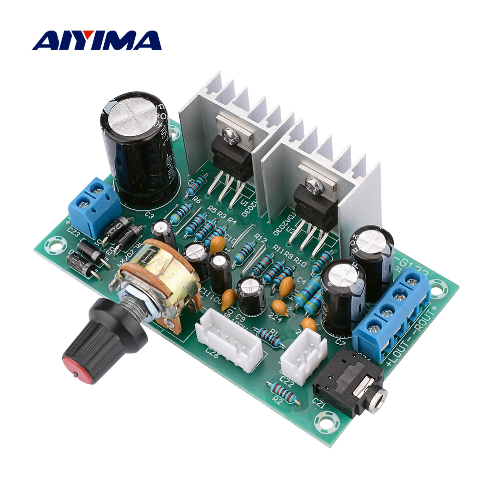 AIYIMA <font><b>Amplifiers</b></font> Audio Board AC DC 12V <font><b>TDA2030</b></font> Power <font><b>Amplifier</b></font> 2.0 15Wx2 Pure TDA20 Amplificador Board DIY For Home Theater image