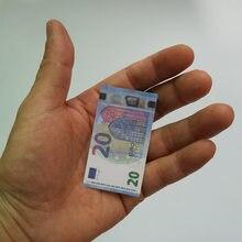 Papel 20 euro brinquedos notas 100 pçs/lote 100 eur folha de ouro notas para coleção e presentes dinheiro da ue requintado artesanato