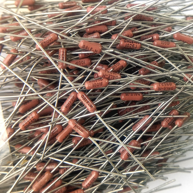 20PCS VISHAY DALE CMF55 1/4W 0.25W 1K 1% Axial Resistance CMF 55 1001F military regulations metal film resistor RN55 1001