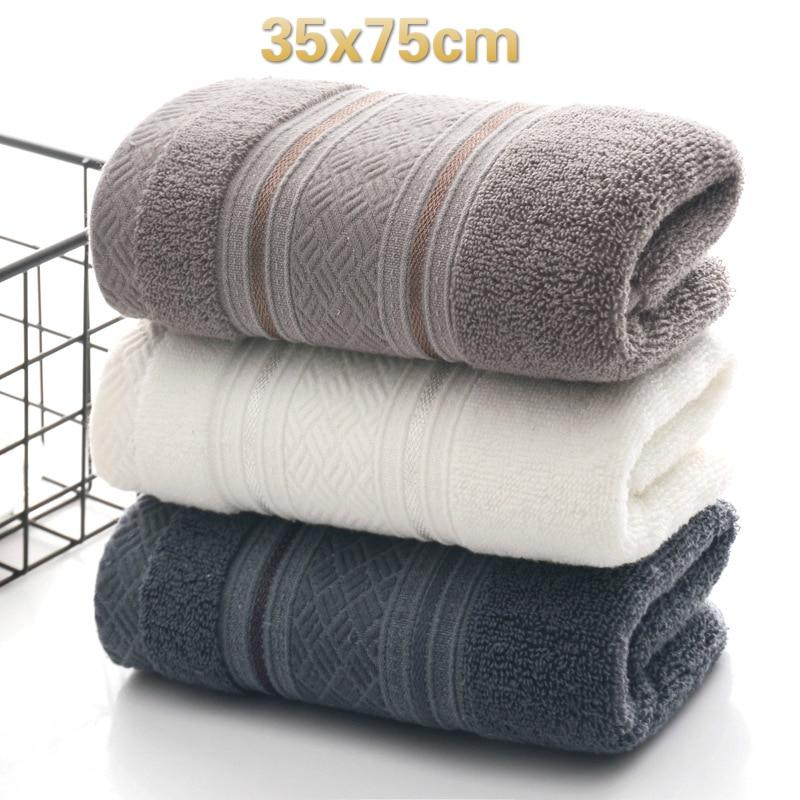 British Style Simple Solid Color Plain Pattern Man Washcloth Travel Hotel Bath Towel Bathrobe Camping Gym Portable Face Towels 1