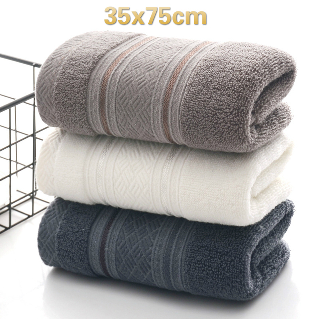 British Style Simple Solid Color Plain Pattern Man Washcloth Travel Hotel Bath Towel Bathrobe Camping Gym Portable Face Towels 1