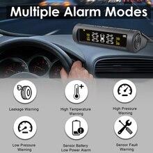 TPMS 자동차 타이어 압력 모니터 시스템 자동 밝기 제어 태양 광 조절 LCD 화면 무선 4 타이어