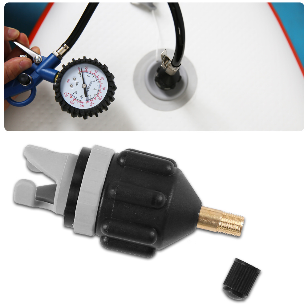 Rowing Boat Air Valve Adaptor Sup Board Kayak Pump Adapters Inflatable Air Valve Attachment Kayak Accessory Parts