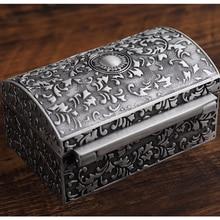 Retro Zinc Alloy Treasure Chest Box Jewelry Storage Box Case Home Decorative Bedroom Storage Toy Box Party Favors Props Gift