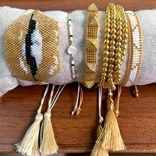 BLUESTAR Gold Bracelet For Women MIYUKI Beads 2020 Handmade Bead Charm Bracelet Fashion Jewelry DIY Jewelry accessories