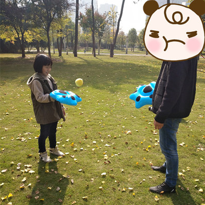 New Inflatable Hand Catch Game Campus Parent-child Outdoor Activities Take Toy Puzzle Game Bear Paw Racket
