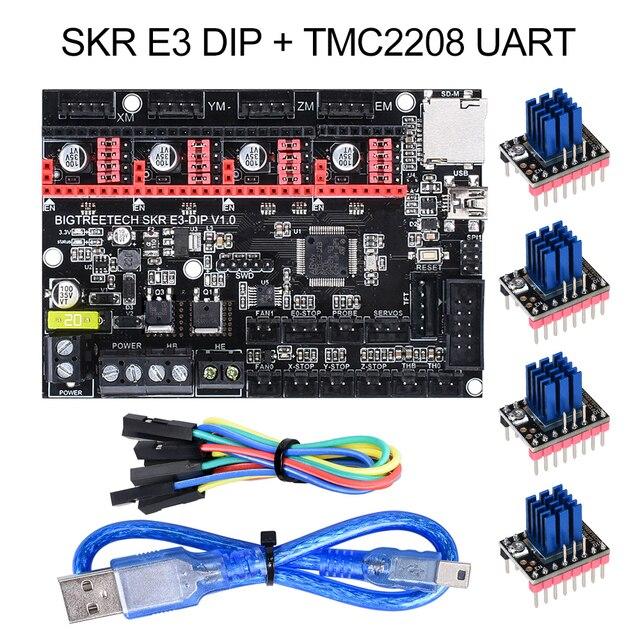 BIGTREETECH SKR mini E3 V1.2 32Bit Control Board With TMC2209 UART Driver 3D Printer Parts skr v1.3 E3 Dip For Creality Ender 3 1
