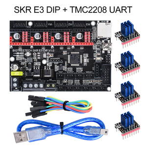 BIGTREETECH SKR mini E3 V1.2 Control Board 32Bit With TMC2209 UART Driver 3D Printer parts skr v1.3 E3 Dip For Creality Ender 3