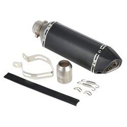 38 51mm rura wydechowa z włókna węglowego czarny tłumik motocyklowy funkcjonalna modyfikacja akcesoria XLJ235 SW03 w Kolektory spalin od Samochody i motocykle na