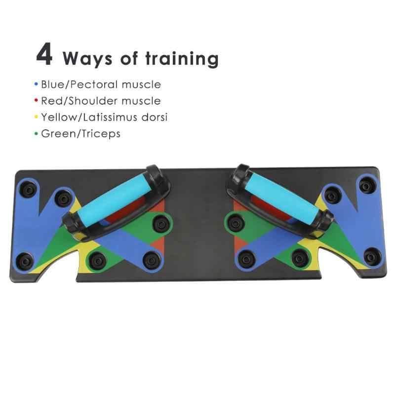 9 w 1 Push Up stojak na pokładzie System Fitness Workout pociąg siłownia ćwiczenia stoi