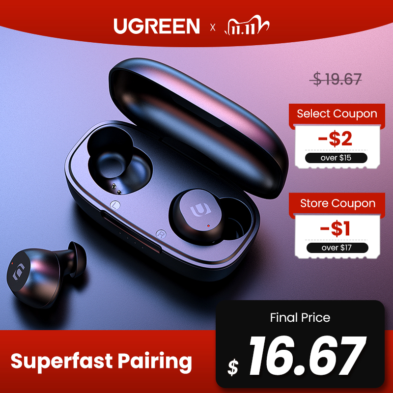 UGREEN TWS Bluetooth Earphones NEW 2020 Headphones True Wireless Earbuds In Ear Stereo Headset Sport TWS Bluetooth 5 0 Headphone