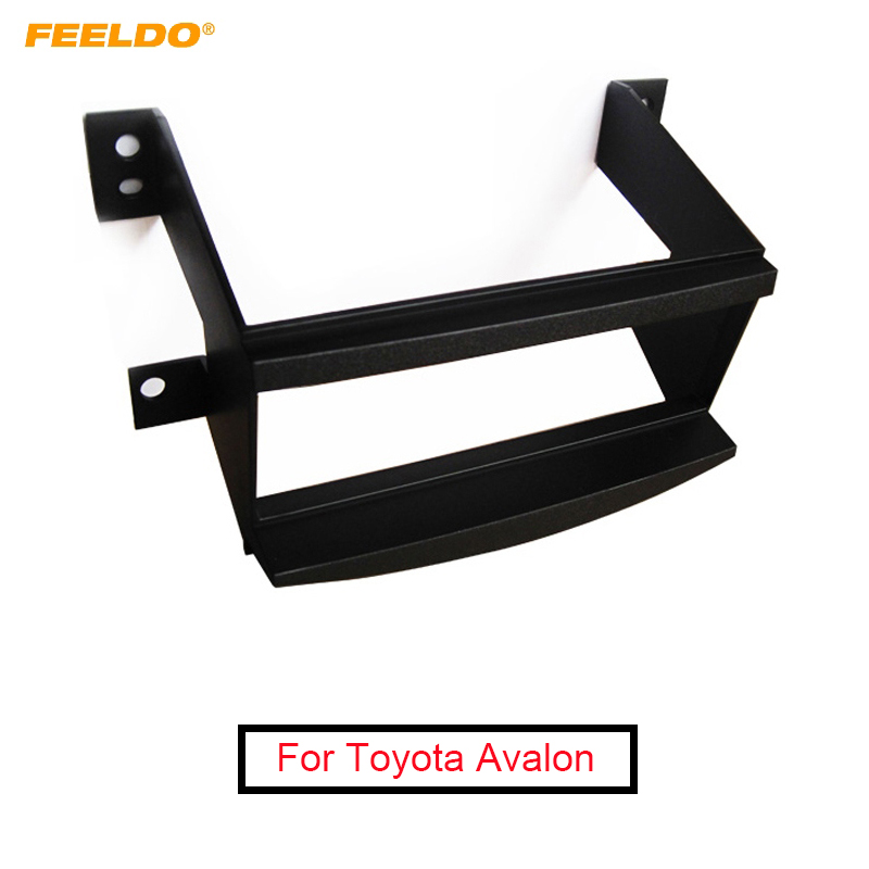 FEELDO Car 1-Din Stereo Radio Dash Panel Fascia Frame Adapter For Toyota Avalon 05-09 Face Plate Refitting Trim Kit #AM4893 image