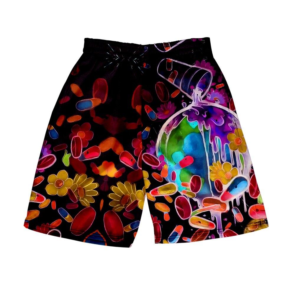 Men's 3D Juice Wrld Shorts 3D Board Trunks 2019 Summer Loose Shorts Men Hip Hop Juice Wrld Short Pants Indoor Wear Streetwear