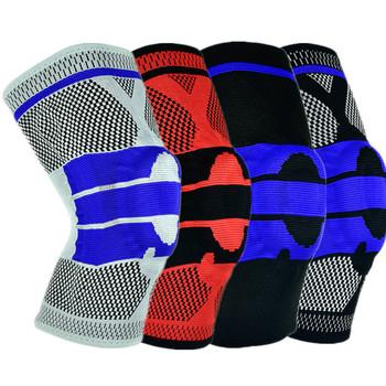 Ochraniacze na kolana koszykówka fitness bieganie wiosna wsparcie ochraniacze na kolana antykolizyjne silikonowe sprężyny ochraniacze na kolana ochraniacze na kolana ochraniacz kolan tanie i dobre opinie FDS456 Nakolanniki Knees Kneepads M L XL