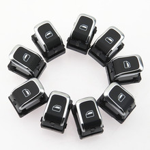 цены SCJYRXS Qty 9 Chrome Passenger Window Side Power Window Switch For A6 S6 C7 A6 Allroad A7 A8 S8 Q3 RS6 RS7 RSQ3 8KD959855A