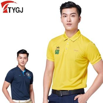Bardzo cienkie! Mężczyźni odzież golfowa krótkim koszule z rękawami mecz odzież sportowa Golf odzież tenisowa koszulka suche nadające się do koszulki topy tanie i dobre opinie COTTON spandex Anty-pilling Oddychające Szybkie suche TT0073 Pasuje prawda na wymiar weź swój normalny rozmiar Suknem