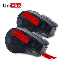 UniPlus 2pcs Black on Red Label Maker M21-500-595-RD Compatible for Brady Idpal BMP21-Plus Labpal 12mm Vinyl Quality Tapes