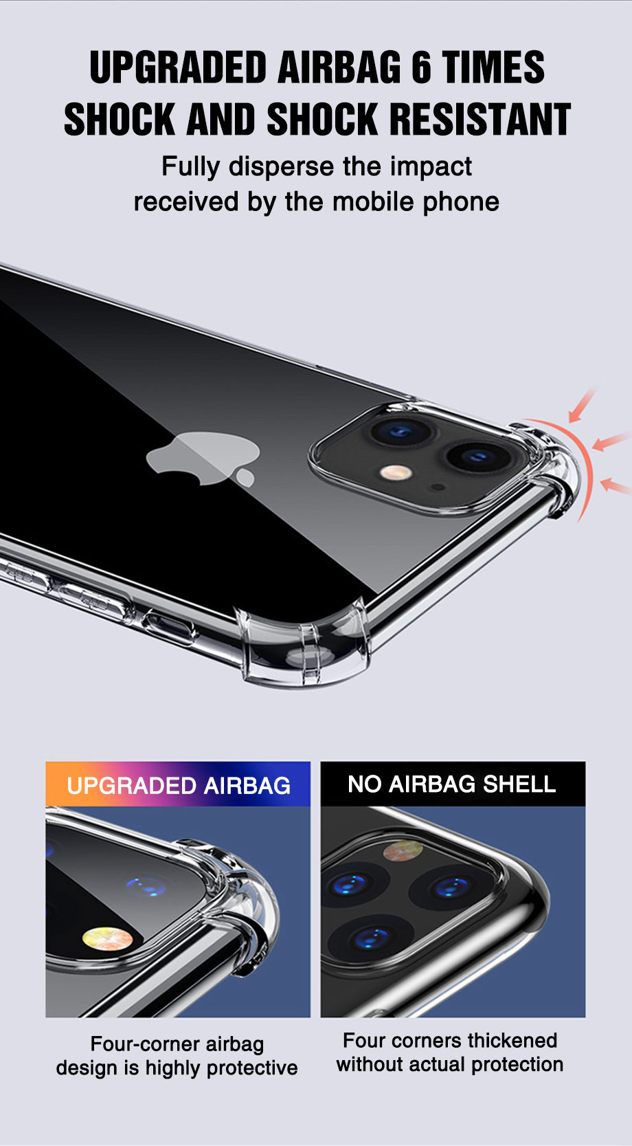 Transparent Shockproof Soft Silicone Case for iPhone 12 Mini