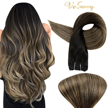 VeSunny Sew in Hair Extensions Straight Hair Real Human Hair Extensions Sew Ins 100g
