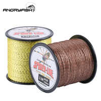 Angryfish 8 Strands 300m PE Braided Fishing Line Camouflag Yellow and Brown 18LB-70LB