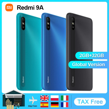 """Xiaomi Redmi 9A Global Version Mobile Phone 2GB 32GB MTK Helio G25 Octa Core 6.53"""" 5000mAh 13MP Camera Smartphone 1"""