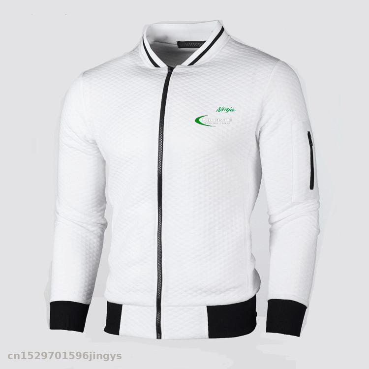 New Stand Collar Jacket Men Slim Fit Zipper For Kawasaki Jacket  Pilot Jackets Men's  Top Jacket Coat