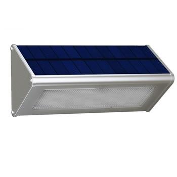 Outdoor Wall Light Security Solar Lamp With Motion Sensor Aluminum Alloy Street Porch Light lampada 48 LED 800LM Waterproof