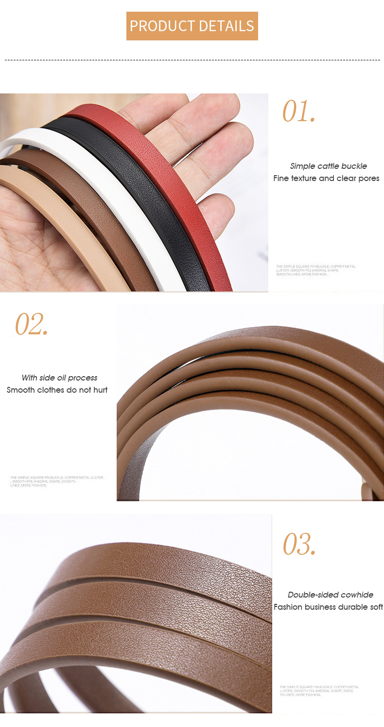 H1ceec4244f234e36a20fec0c13aab9bf1 - NO.ONEPAUL Simple dress decorated ladies leather fashion elegant belt fashion designer design slim waist high quality new belt