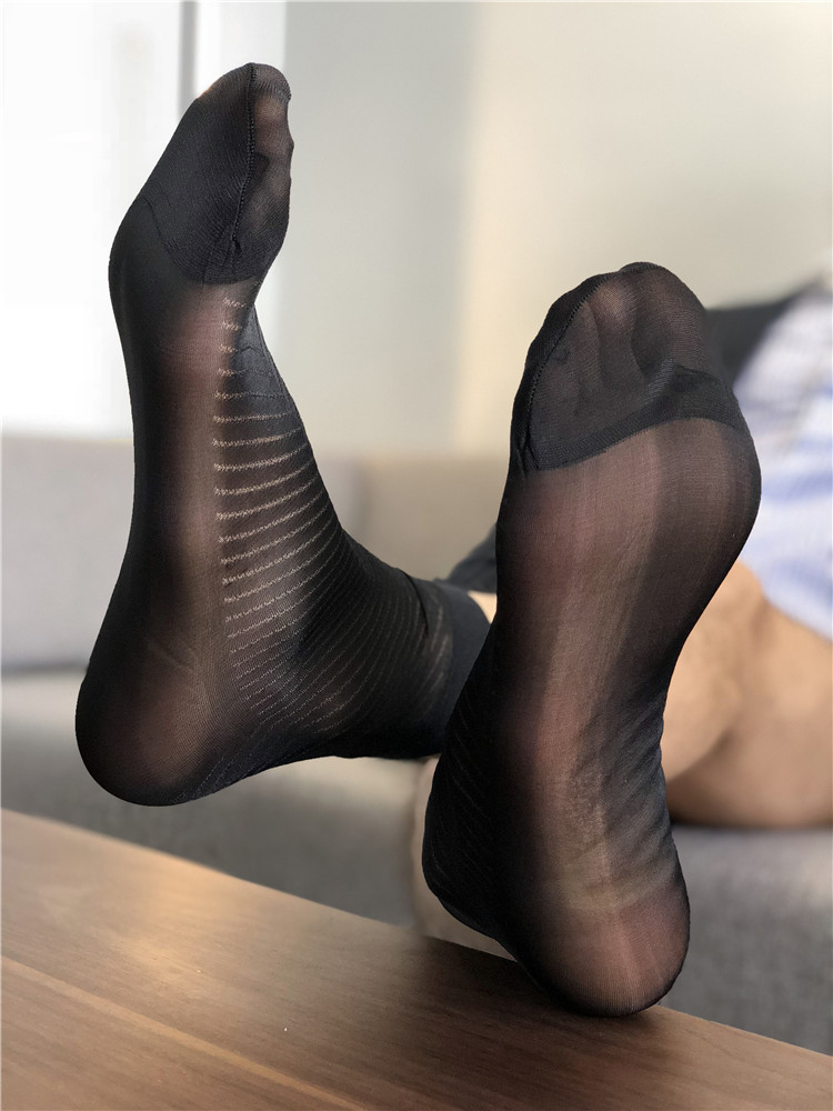 Sexy Sheer Socks Formal Wear Men Socks Dress Socks Gifts For Men Suit Men Socks Exotic Socks Transparent Business TNT Male Socks
