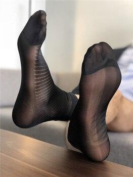 Sexy Sheer Socks Formal Wear Men Socks Dress Socks Gifts For Men Suit Men Socks Exotic Socks Transparent Business TNT Male Socks фото