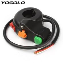 YOSOLO фары/поворотные сигнальные огни/рожок 3 в 1 Универсальный автоматический переключатель включения мотоцикла Скутер грязи ATV рычаг управления мотоциклом