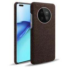 Luxe Doek Textuur Ingericht Case Voor Huawei Mate 40 Pro P40 P30 P20 Stof Back Cover Voor Huawei Honor 8 9 10 Lite 20 Pro 8X 9X