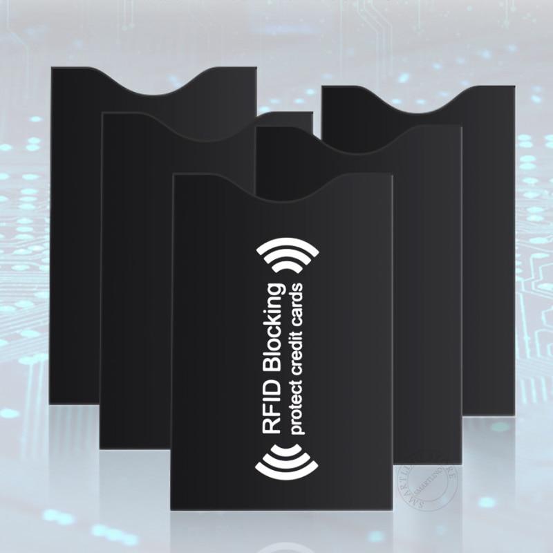 5 шт Черный Алюминий Фольга Анти-кражи кредитной банка держатель для карт с функцией блокировки RFID рукав протектор Анти-скан NFC сигнала бума...