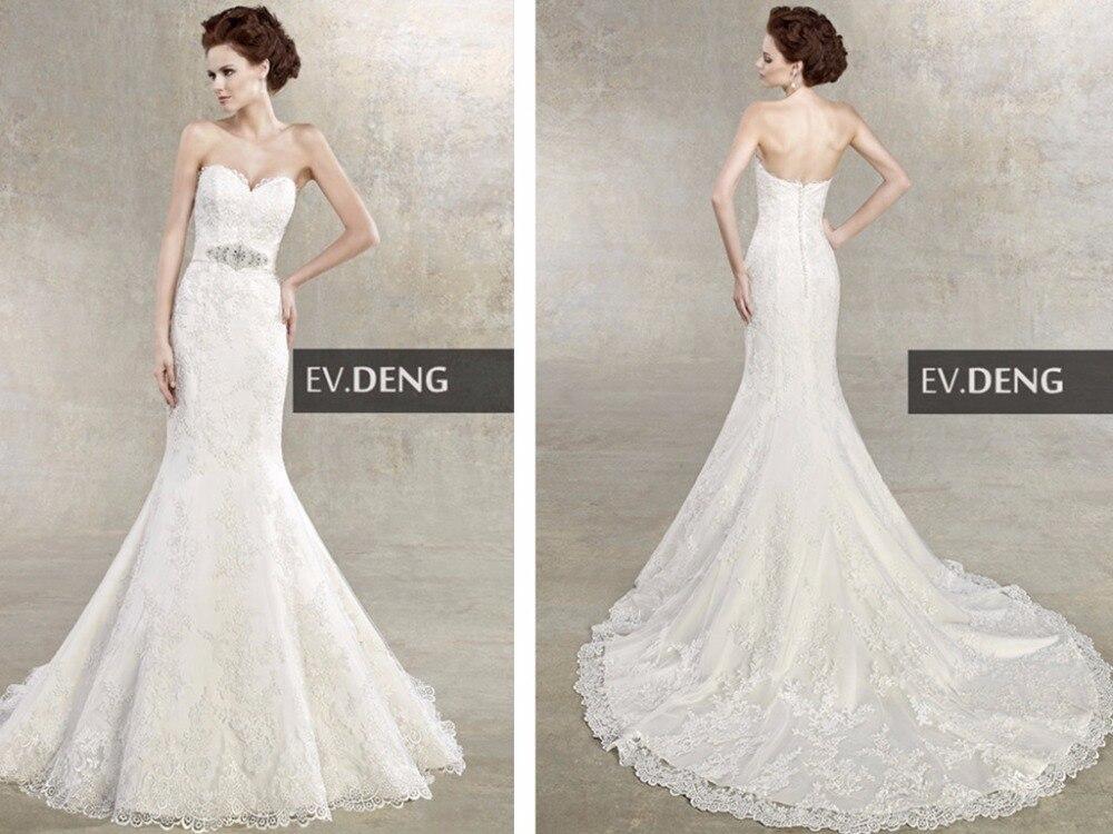 Lace Appliques Sexy Rhinestone Sashes Wedding Dress 2016 Hot Sale Vestido De Noiva Casamento Sweetheart Bride Bridal Dresses