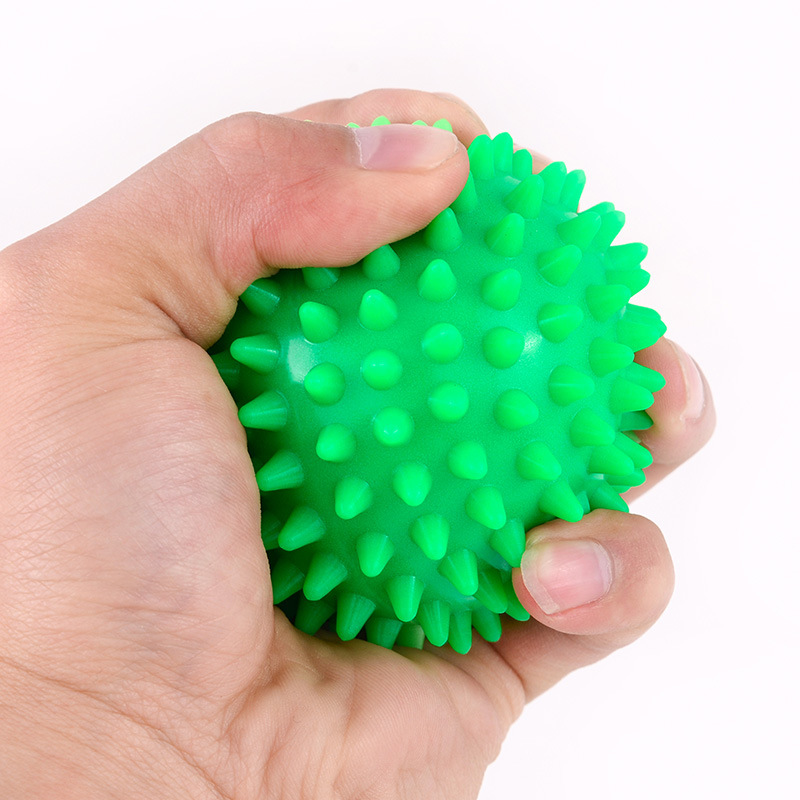 7CM 4 Color Fitness PVC Hand Massage Ball PVC Soles Hedgehog Sensory Training Grip The Ball Portable Physiotherapy Ball